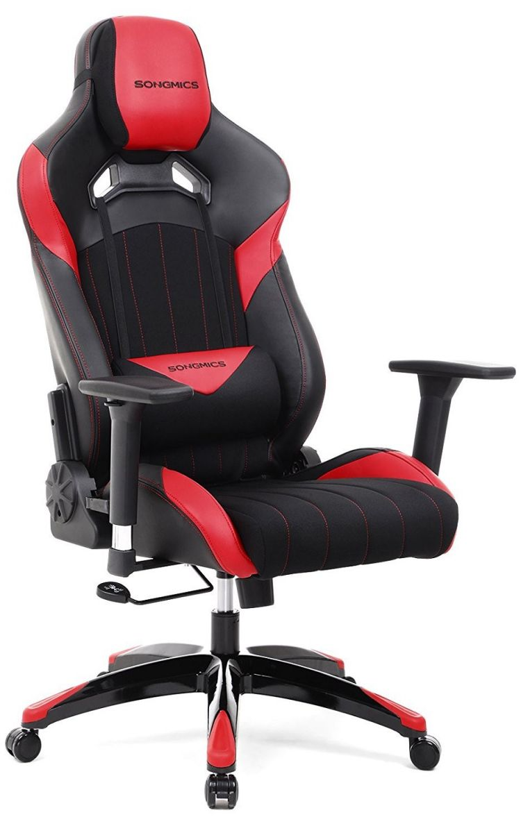 Verstelbare Bureaustoel Zwart.Gamestoel Met Kantelfunctie En Verstelbare Armleuningen Zwart Rood